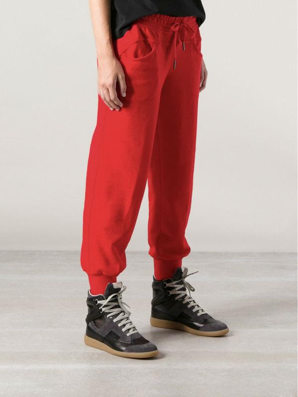 3e96ffafc40f donne pantaloni casual rossi per il tempo libero harem danza hip hop  pantaloni della tuta sport
