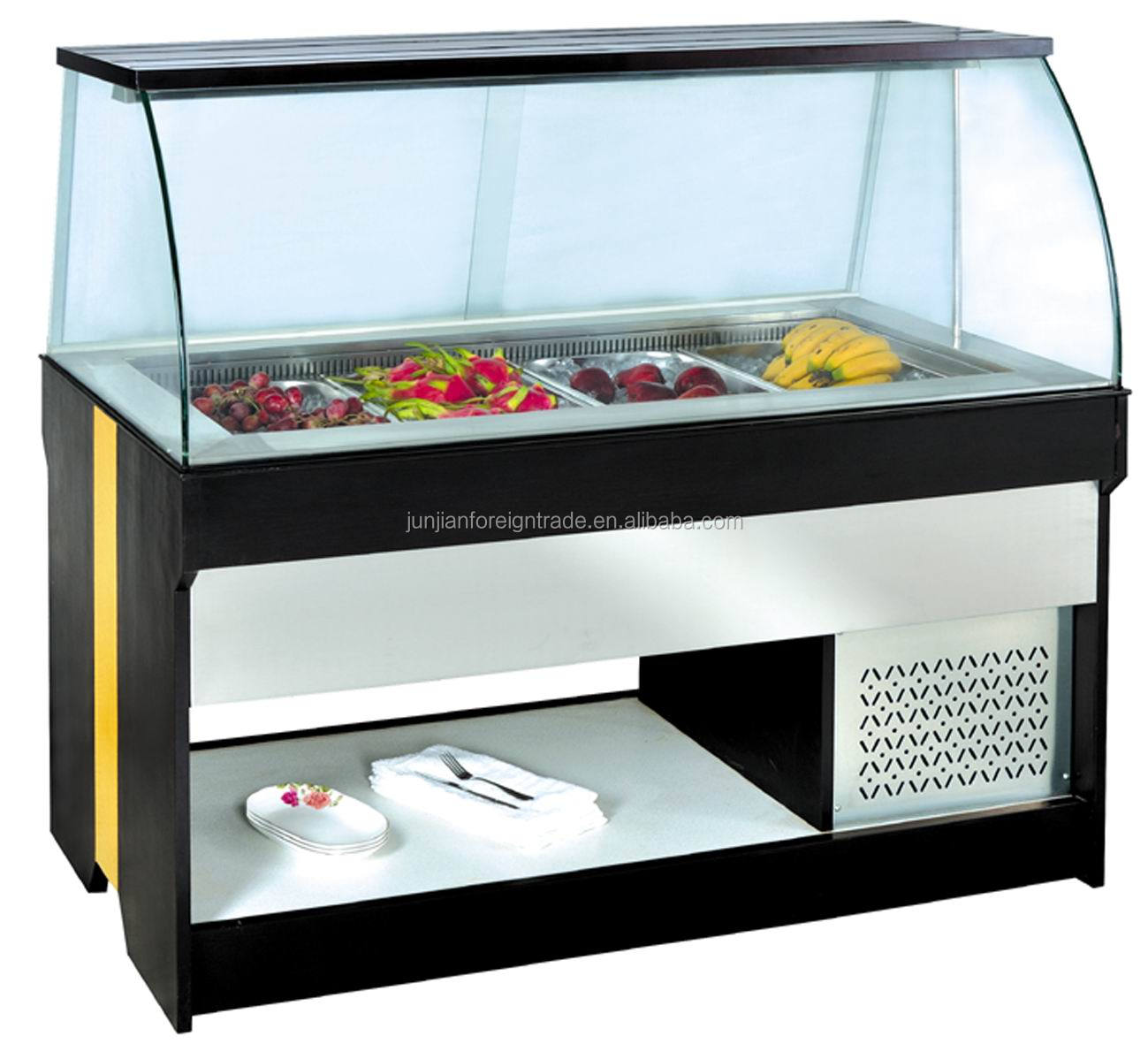 commercial salad bar display chiller salad display. Black Bedroom Furniture Sets. Home Design Ideas