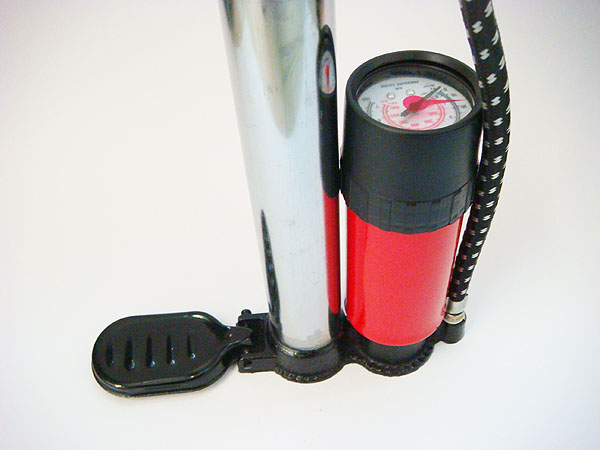 bicycle pump with tank Alloy cylinder with gauge for cycling floor pump