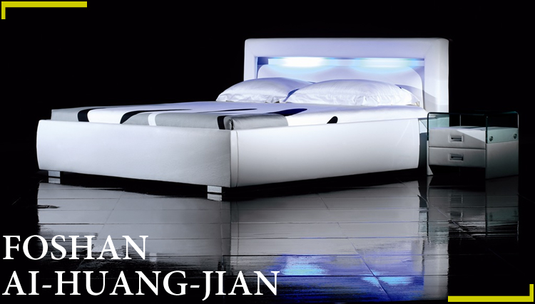 Ce Sgs Certification White Led Reading Light Leather Bed B19