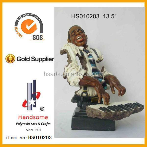 polyresin black people figurines as a Gifts Crafts Decoration handmade Sculpture