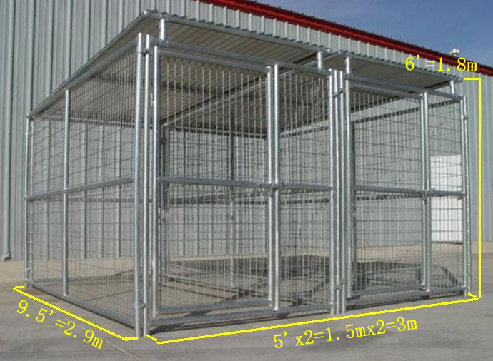 2014 fashion animal protective cages steel dog runs large for Dog run cage enclosure