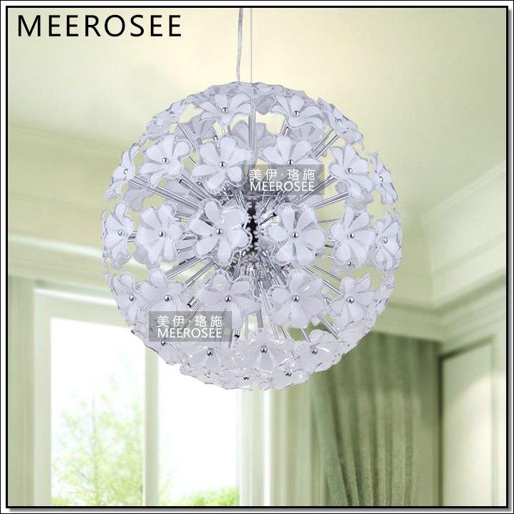 Beautiful Plastic Pendant Lighting Round Plastic Flower Lamp Ball Hanging  light MD3236