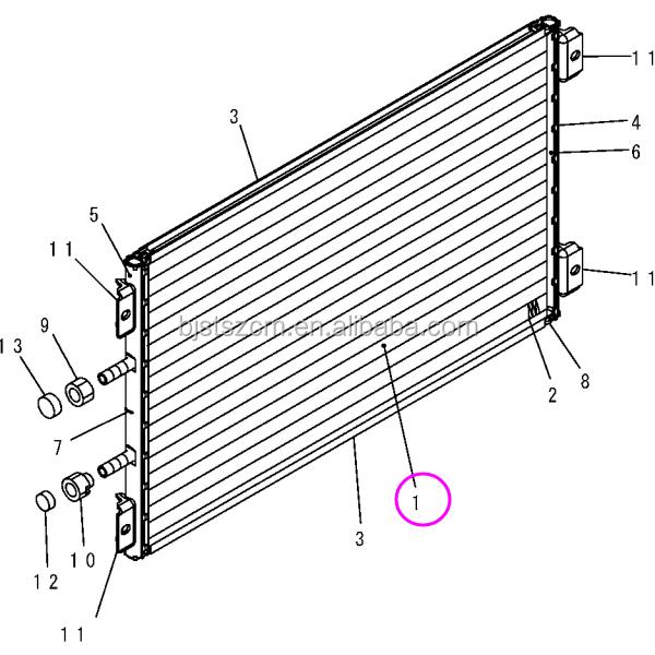 Dozer Part On D155ax/d275/d475 After Cooler Condenser Of 20y-979 ...