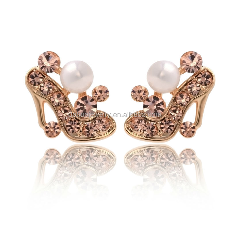 High Heel Small Bead Cute Earring Design For Beautiful Girl - Buy ...