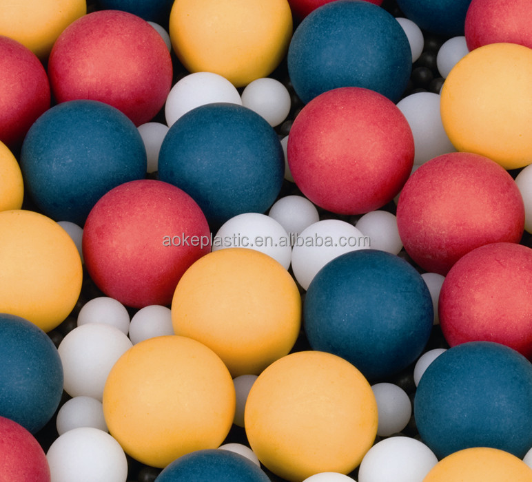 16.8mm small colored pp hollow plastic balls