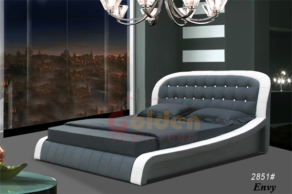Latest double bed designs Italian leather bed and German bed frame G1024. Latest Double Bed Designs Italian Leather Bed And German Bed Frame