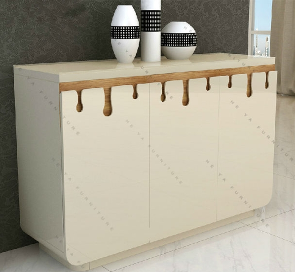 High Glosss White Sideboard Modern White Mdf Sideboard Buffet ...