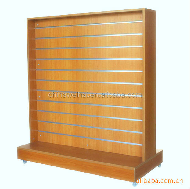 retail display racks wood