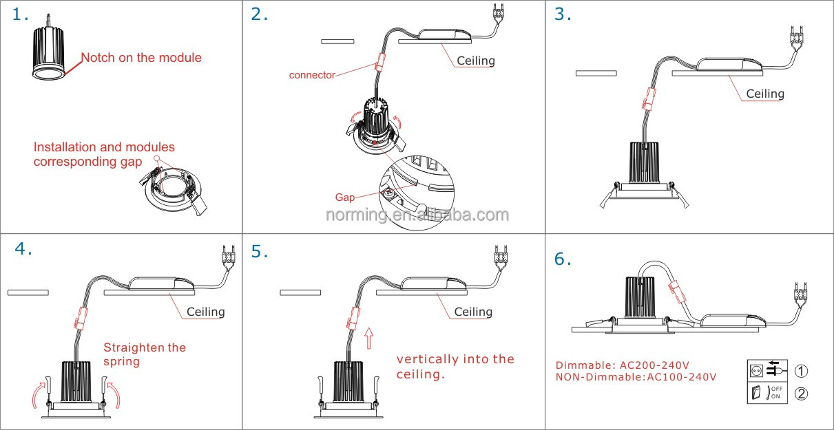 How To Wire Downlights Diagram : Bs test minutes fire rated v led downlights