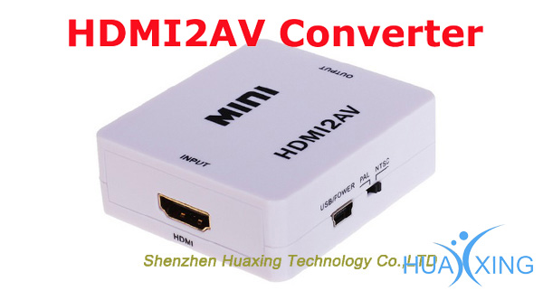 mini RCACVS 3 RCA Composite Video AV to HDMI Converter for TV/PC