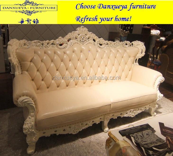 Hotel,home Used Wood Sofa Set Dubai Leather Sofa Furniture M02# Part 66