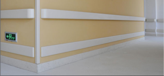 Pvc Hospital Wall Guard With Aluminum Back Buy Wall