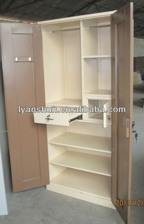 2 Door Cupboard Inside Designs indian almirah designs 2-door steel cupboard - buy wardrobe