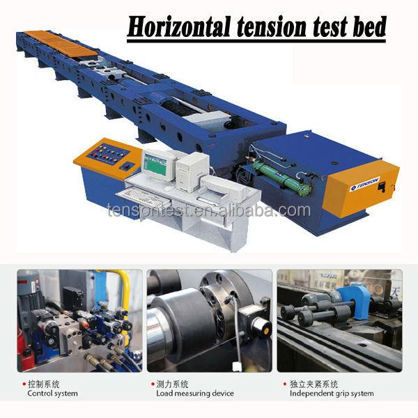 Horizontal Hydraulic Puller : Horizontal tensile testing machine steel wire rope tension