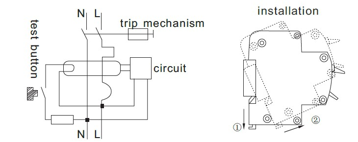 pole rccb connection diagram image wiring diagram 2 pole rccb connection diagram 2 auto wiring diagram schematic on 4 pole rccb connection diagram