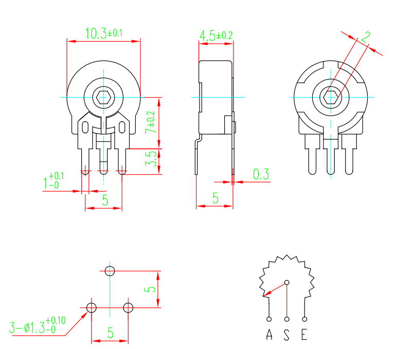 Piher Pt15 15mm Carbon Trimming Potentiometer - Buy Piher Pt15,15mm Carbon  Potentiometer,B500k Potentiometerpcb Potentiometer Product on Alibaba com
