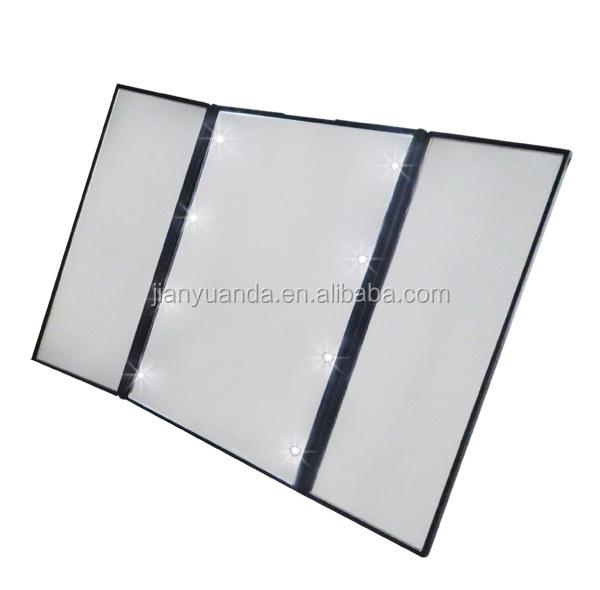 moderne carré forme led lumineux 3 façon maquillage miroirs avec