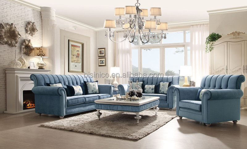 Retro British Style Royal Furniture Luxury Living Room