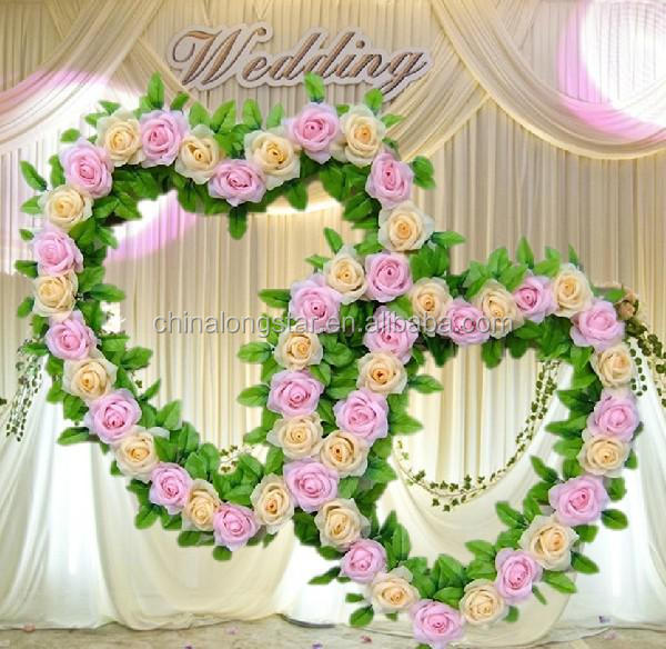 Stage decoration flowers my web value beautiful artificial flowers garlands used for wedding stage decoration junglespirit Image collections
