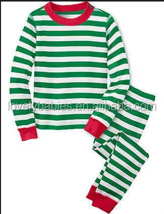 Adult And Kids Christmas Striped Pajamas For Men And Women - Buy ...