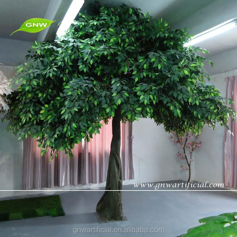 Artificial Indoor Trees Banyan Green Leaves Umbrella Shape