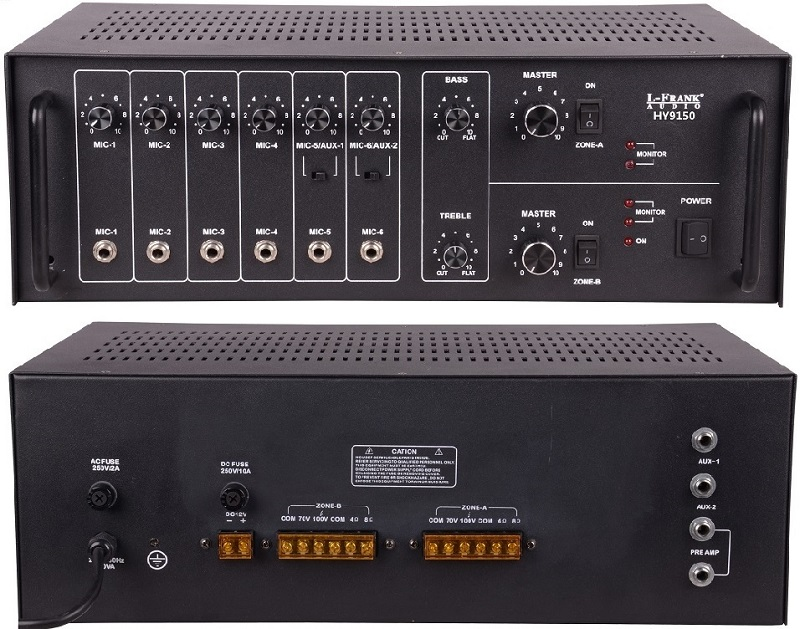 2 Channel 75w Usb Mp3 Stereo Public Address Pa Professional ...