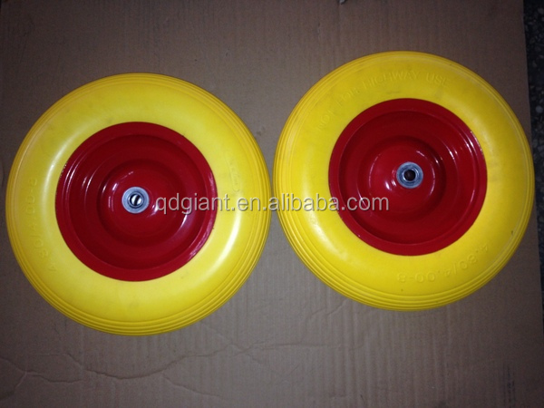 Solid Polyurethane Tire, PU Foam Wheel 4.00-8