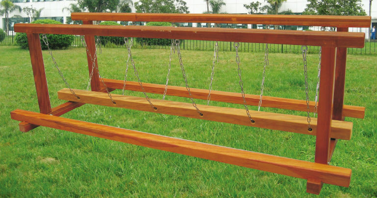 Playground Balance Beam Kids Wooden Swing Bridge Children