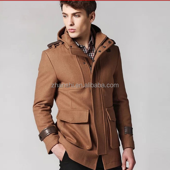 new arrivals new release official shop Classic Pockets Jackets Camel Men's Wool Coat With Hood - Buy Men's Wool  Coat With Hood,Men's Wool Coat With Hood,Duffle Coat Men Product on ...