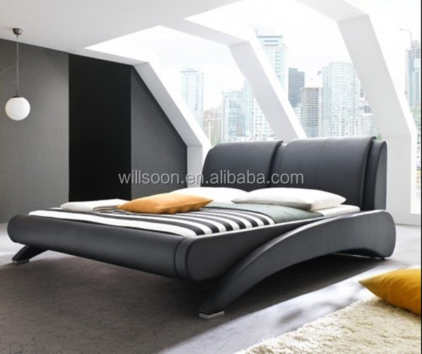 Modern Bed Design Bedroom Furniture Pu Leather Bed 1871