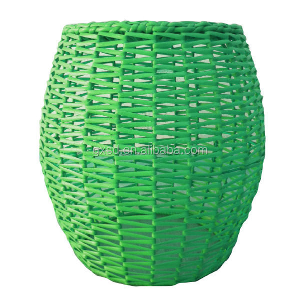 2016 New Type Handmade Plastic Rattan Stool Chair