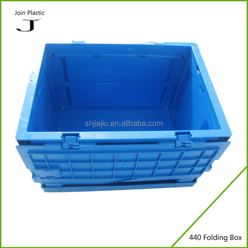 2018 Popular Foldable Plastic Containers Cheap Folding Mesh Basket Movable box