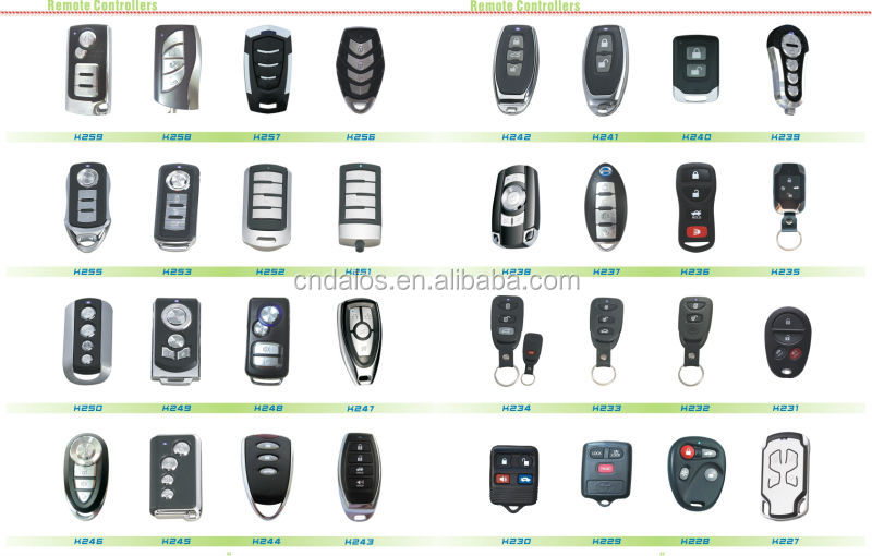 Milano Brand One Way Car Alarm System Auto Security System