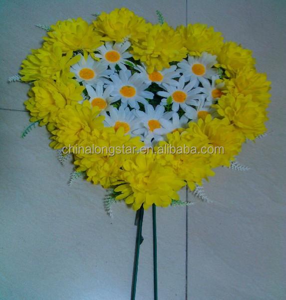 El Amarillo Flor Artificial Corona Utilizado Para Tumbas Funeral