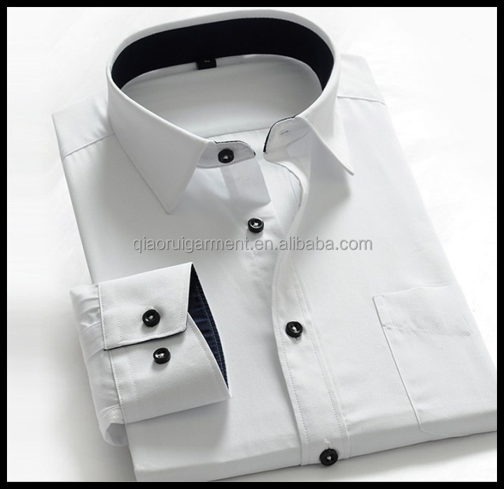 Wholesale Clothing Garment Mens White Shirt Latest 100%cotton ...