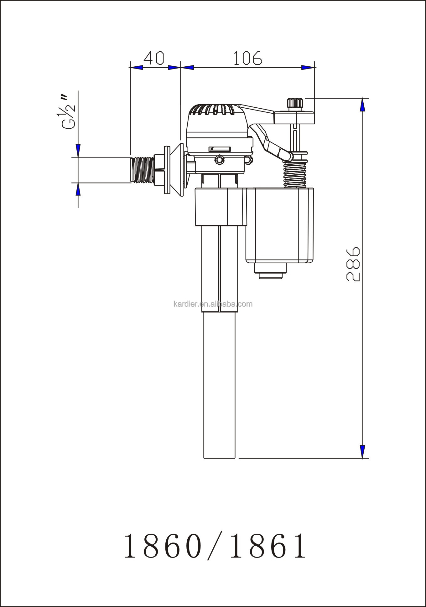 Agua entrada inferior wc v lvula de entrada de la cisterna for Cisterna vater