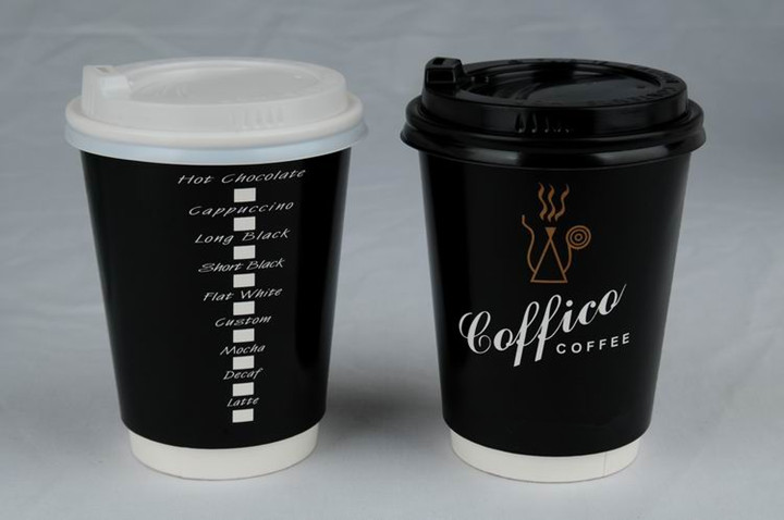 Disposable 12oz Beige Paper With Printed Coffee Cup Buy