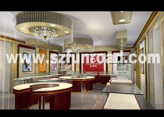 Jewelry Showroom Designs Made With Wood And Glass Fashion Jewelry ...