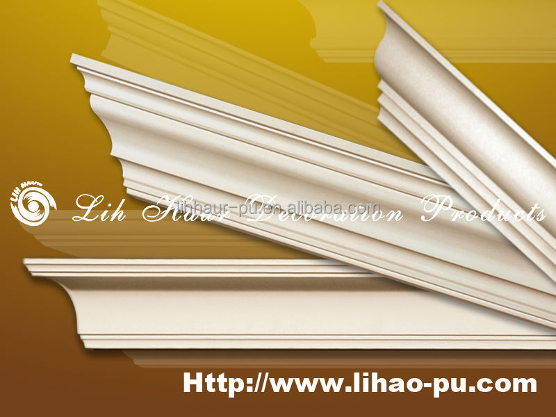High Quality Flexible Painted Polyurethane Crown Moulding Pictures ...