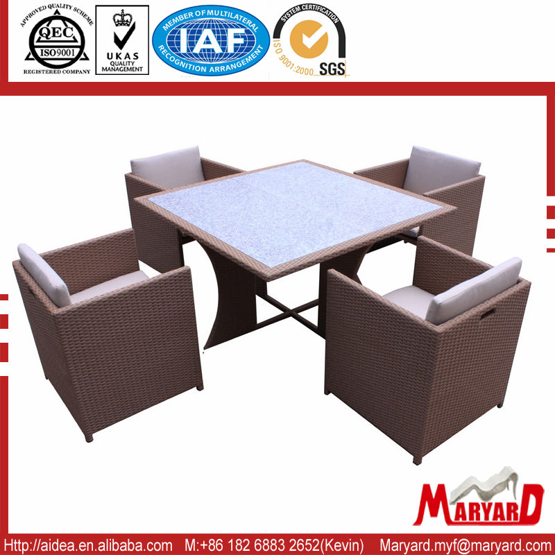Molded Plastic Outdoor Furniture SGS Test Rattan MY13RF07