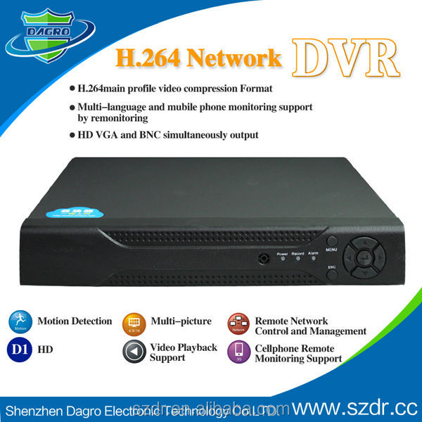 H.264 Standalone Network Dvr Sd Card Dvr 4 Channel Software Dvr ...