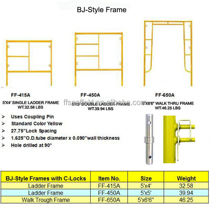 Hot sales scaffold frame made in China