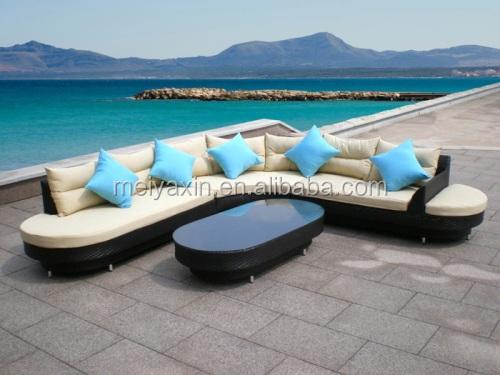 Rattan Garden Furniture L Shape outdoor patio furniture wicker furniture set indoor l shaped