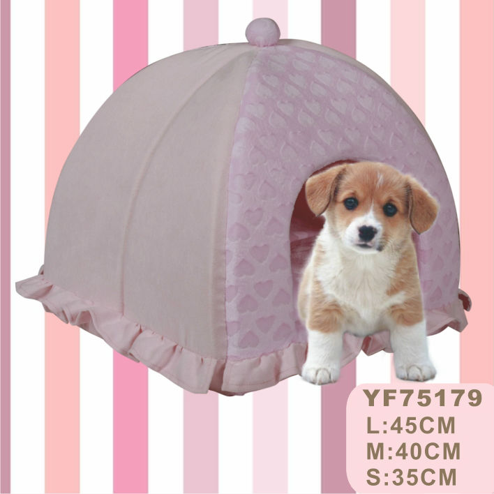 New Hot Selling Style Lace Lovely Dog Cave Princess Dog Bed with Roof