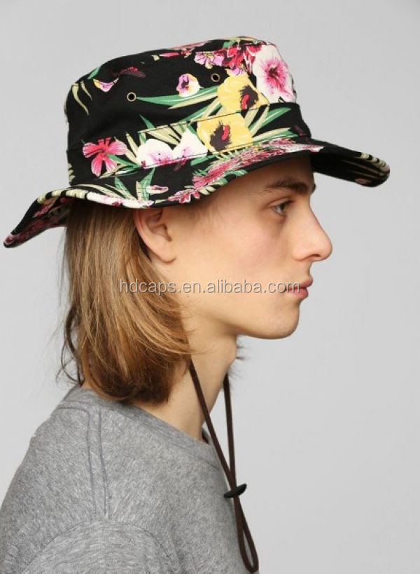 Boonts Floral Fisherman Hat/bucket Hat With String - Buy ...