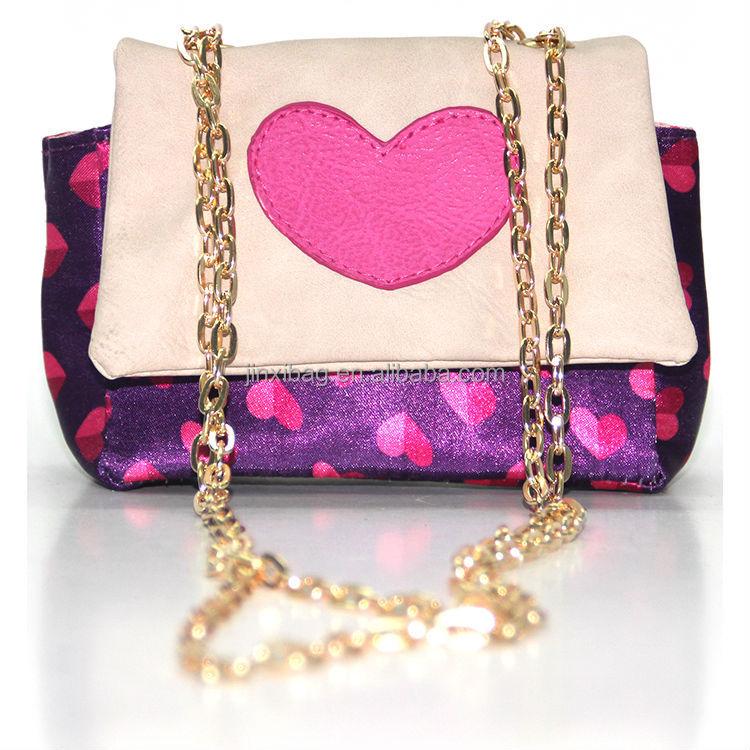 Kiss Lock Closure Little S Bag Chain Shoulder Strap