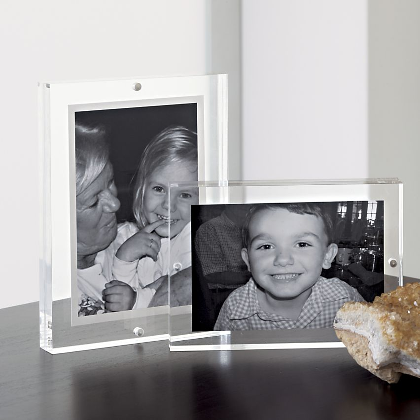 Acrylic Picture Frame 5x7 Double Sided Magnetic Photo Frames
