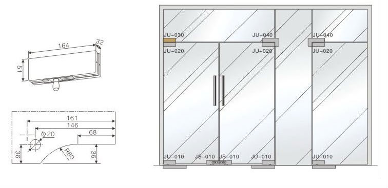Vvp Building Project Transom Glass Door Patch Fitting