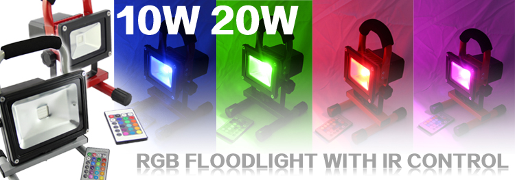 20w Ip65 Rgb Led Flood Light Battery Operated Lamps Outdoor Led ...